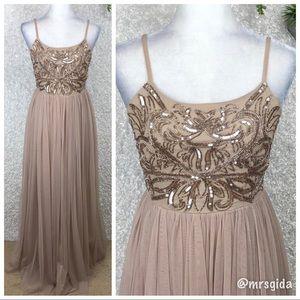 ASOS Maya Embellished Cami Strap Tulle Maxi Gown 6